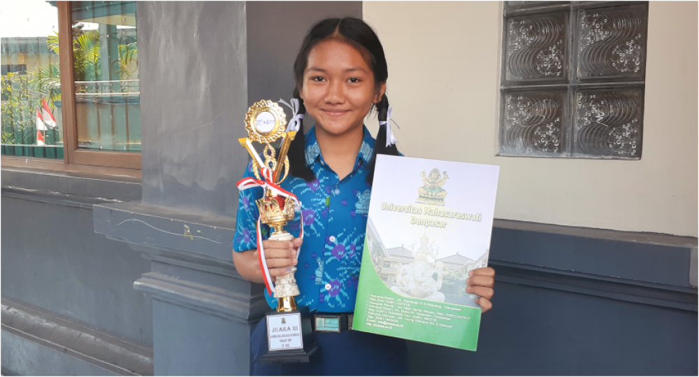 SLUB Raih Juara III Bali Biology Olympiad and Science Universitas Mahasaraswati Denpasar